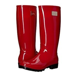 Nicole Miller New York Rainy Day Boots RED